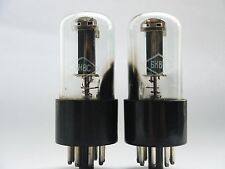 6N8S - 6SN7 MATCHED PAIR STRONG Double Triode NOS