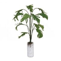 1/12 Gruene Bananenbaum im weissen Flasche Miniatur Puppenhaus Garten Zubehoe 2I