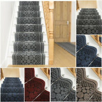 EXTRA LONG GREY RED STAIR STAIRCASE RUNNER CARPET MAT