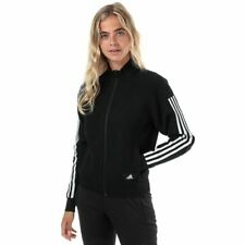 Adidas Mujer ID de punto cremallera Stand Up Collar Relaxed Fit Track de Superdry en negro
