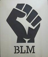 """Black Lives Matter hand Wall art stencil pick 4"""" - 8"""" high 350 mcg Mylar decal"""