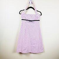 Apart Women's 50's inspired Pink Black Polka Dot Halter Neck Dress - Size 12