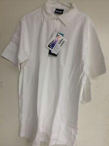 BLAUER 8131-1 BI-COMPONENT POLO SHIRT Short Sleeve WHITE  Large NWT 2 PACK