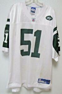 Blemished NFL New York Jets Jonathan Vilma #51 Away Colors Reebok Jersey XL