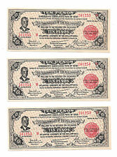 Philippines Emergency Currency Negros 10 Pesos Quezon Sequential Notes # 101255
