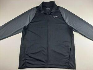 Nike Epic Knit Full Zip Dri-Fit Training Jacket Men L Black Grey 928026 010 E2