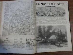 genre L'ILLUSTRATION : LE MONDE ILLUSTRE Année 1868 (Nr 586 à 611) 2eme semestre