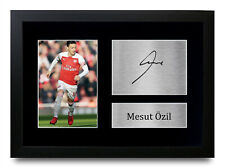 More details for mesut ozil signed pre printed autograph a4 photo gift for an arsenal fan