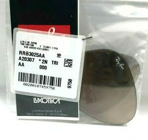 AUTHENTIC RAY-BAN RB3025 001/3E 55MM REPLACEMENT BROWN MIRROR LENSES