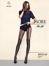 FIORE SPICE-UP SMALL DOT MOCK GARTER STOCKING 40 DENIER PANTYHOSE TIGHTS 4 SIZES