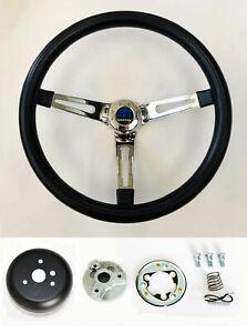 "1970-87 Dodge Ram D100 D200 D300 Pick Up 2WD Truck Black Steering Wheel 14 1/2"""