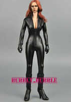 1/6 Female Black Leather Jumpsuit For Black Widow Catwoman Figure SHIP FROM USA