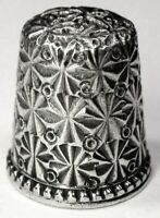 "Antique Ketcham & McDougall Sterling Silver Thimble  ""Embroidery""  C1880s"