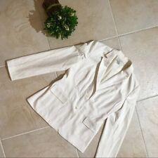 Ann Taylor Loft Women���s White Blazer Jacket Size 4 Long Sleeve Suit Separate 223