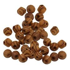 100Pcs Natural Wood Bead Unpainted Unfinished Wooden Beads Spacer Ball DIY
