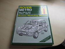 HAYNES WORKSHOP MANUAL ROVER METRO 1990 - 1991, ONE OWNER FROM NEW .