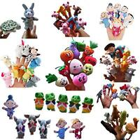 Lot Finger Puppets Plush Baby Kids Educational Hand Toys Children Fun Story Make