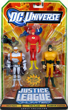 Justice League Unlimited 3-Pack HEATWAVE THE FLASH MIRROR MASTER Figure Set NEW!