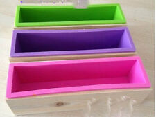 1kg Big Cuboid With Rectangular bamboo Box Soap Mold/Mould Flexible Silicone