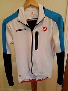 CASTELLI  Cycling Bike Jacket Women's Large full zip wind stopper Rosso Corsa LS