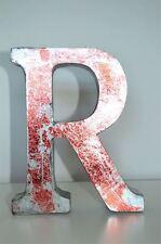 MEDIUM VINTAGE STYLE 3D RED R SHOP SIGN LETTER TIN WALL ART LETTER FONT