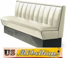 HW-180-White American Diner Bench Furniture USA Style Catering