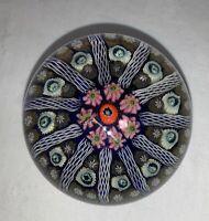 Vintage Art Glass Scottish STRATHEARN (?) MILLEFIORI Cartwheel Paperweight
