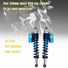 12.6in Motorcycle Rear Shock Absorber Dampers 320mm Round End Fit For GSX-R750