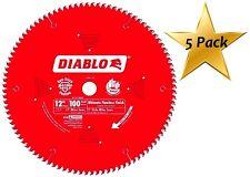 5 Pack Freud D12100X 100 Tooth Diablo Ultra Fine Circular Saw Blade