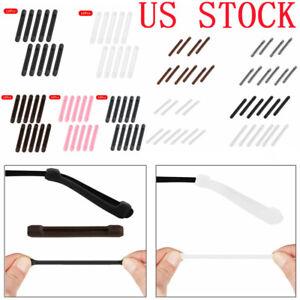 US 10x Silicone Anti-Slip Glasses Temple Tips Sleeve Retainer Eyeglass Ear Hooks