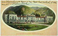 Arrowhead Hot Springs Hotel California CA Street View Border Vintage Postcard