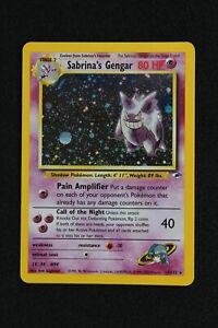 SABRINA'S GENGAR 14/132 GYM HEROES WOTC HOLO POKEMON CARD NM/M