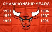 Chicago Bulls NBA Championship Flag 3x5 ft Sports Red Banner Man-Cave Garage Bar