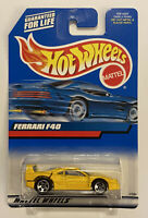 2000 Hotwheels Ferrari F40 Yellow! Very Rare! Mint! MOC!