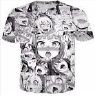 New Fashion Womens/Mens Cartoon Ahegao Funny 3D Print Casual T-Shirt HJT16