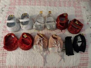 BAB, lot of 5 pairs of Build a Bear shoes, 2 singles, TLC issues, read descrip.