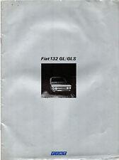 Fiat 132 1974-76 French Market Sales Brochure 1600 1800 GL GLS