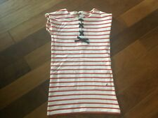 girls petite batesu red and white stripped dress 126cm