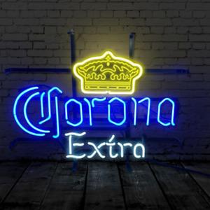 "19""x15""Corona Extra Neon Sign Light Acrylic Handmade Real Glass Tube Artwork"