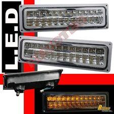 88-98 Chevy GMC C/K Silverado Tahoe Sierra Suburban Chrome LED Bumper Lights