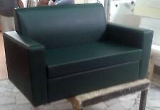divano 2posti Divanetto verde foresta tessuto ecopelle sofà poltrona relax sedia