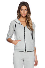 NWT $128 Trina Turk Recreation Gray Sexy Mesh Back Hoodie Sports Jacket Womens M