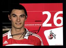 Aleksandar Mitreski Autogrammkarte 1 FC Köln 2007-08 Original Signiert+A 128363