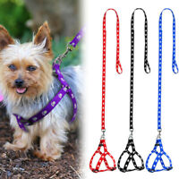 Safe Pet Dog Lead Leash Rope Obedience Training Walking Harness and Leash set