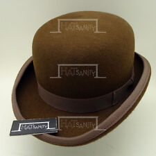 VINTAGE Wool Felt Dura Bowler Top Hat Men Women Derby Unisex NEW | 57cm | Brown