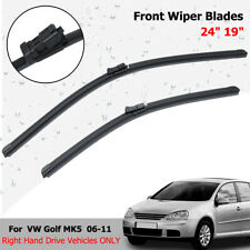 "For VW Golf MK5 2006-11 (Push Button) Front Windscreen 24"" 19"" Flat Wiper Blades"