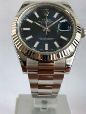 2010 Rolex Datejust II 18k White Gold & Steel Blue Dial 41mm Watch 116334 Men's