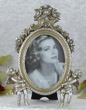 Bilderrahmen Antik Fotorahmen Barock Rahmen Prunkrahmen silber Engel Putten Deko
