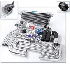 Universal GT35 T4 .68AR Turbo Kit Turbo Starter Kit Wastegate 3.0″ Intercooler