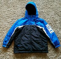 NIKE YOUTH  Snow/Ski Reversible Jacket Blue Black Sz. Small (8) Hoodie Spellout